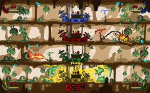 A level sketch of the old version of League of Virus